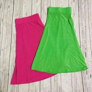 Haley & Hound elastic waist midlength 2 skirts